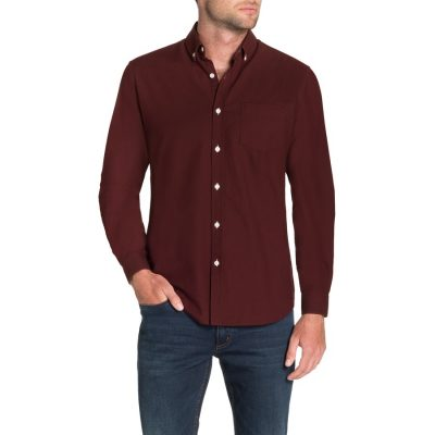Fashion 4 Men - Tarocash Essential Oxford Shirt Burgundy 5 Xl