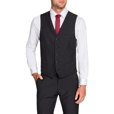 Fashion 4 Men - Tarocash Gideon Waistcoat Charcoal S