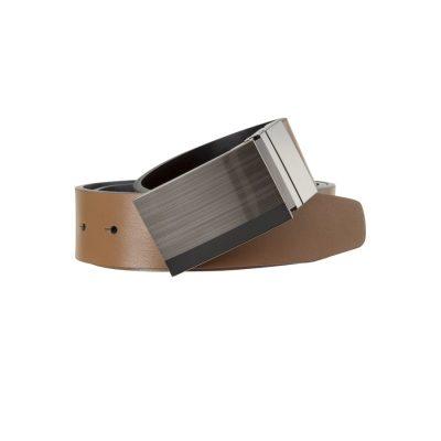 Fashion 4 Men - Tarocash Jackson Reversible Belt Mocha 38