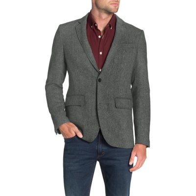 Fashion 4 Men - Tarocash Jethro Herringbone Jacket Grey Xl