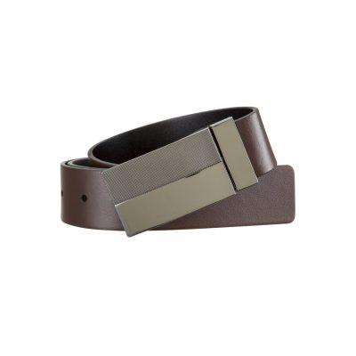 Fashion 4 Men - Tarocash Kyle Reversible Belt Choc/Black 40