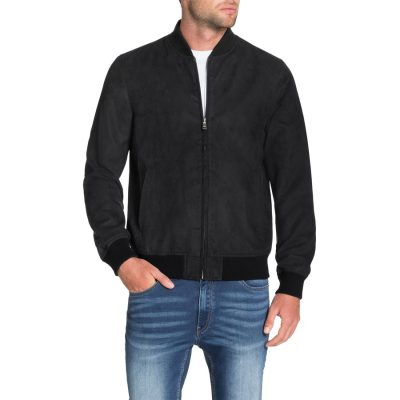 Fashion 4 Men - Tarocash Ryan Faux Suede Bomber Black M
