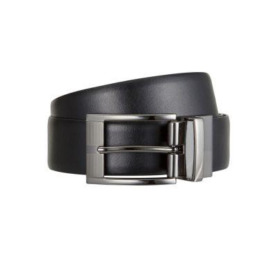 Fashion 4 Men - Tarocash Thomas Reversible Prong Belt Black/Tan 44