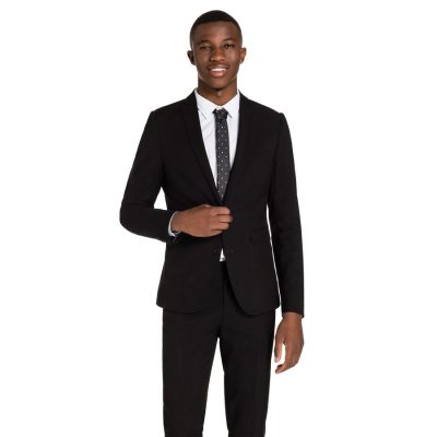 Fashion 4 Men - yd. Cahn Skinny Suit Black 40