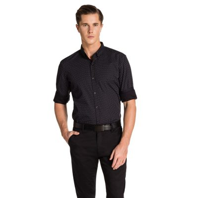 Fashion 4 Men - yd. Ewan Slim Fit Shirt Black L