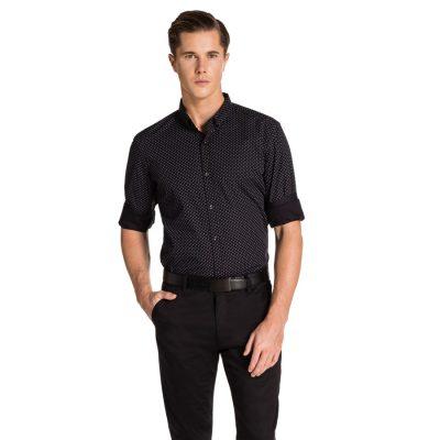 Fashion 4 Men - yd. Ewan Slim Fit Shirt Black Xl