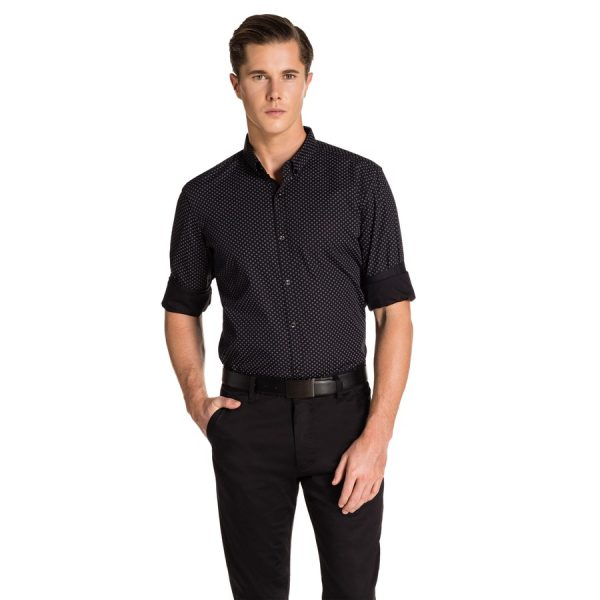 Fashion 4 Men - yd. Ewan Slim Fit Shirt Black Xxxl