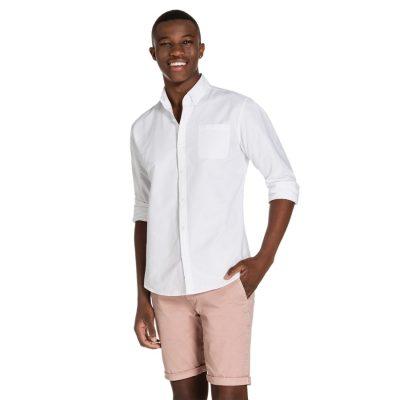 Fashion 4 Men - yd. Hamptons Shirt White S