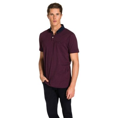 Fashion 4 Men - yd. Hendrick Polo Burgundy 3 Xl
