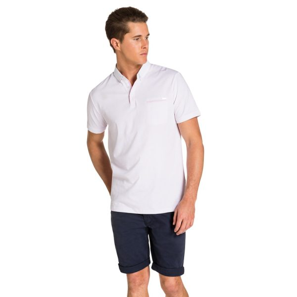 Fashion 4 Men - yd. Howell Polo Soft Pink L