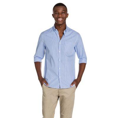 Fashion 4 Men - yd. Larson Slim Fit Shirt Blue/ White M