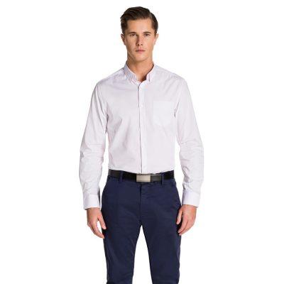 Fashion 4 Men - yd. Larson Slim Fit Shirt Pink/ White L