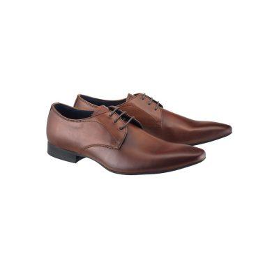 Fashion 4 Men - yd. Merc Leather Dress Shoe Brown 12