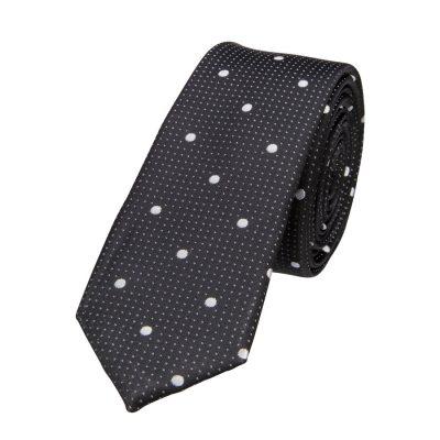 Fashion 4 Men - yd. Morrison 5 Cm Tie Black/Silver One