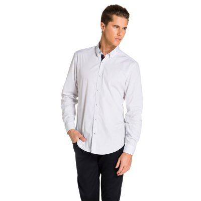 Fashion 4 Men - yd. Seymour Shirt White/ Navy Xl