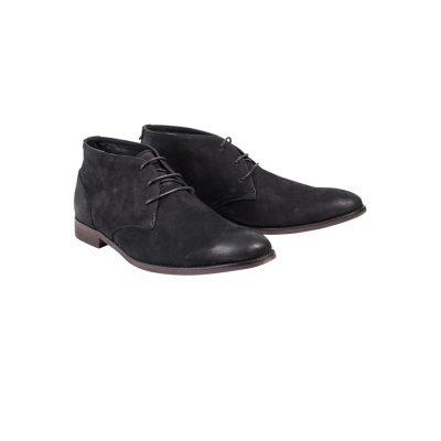 Fashion 4 Men - yd. Suede Lace Up Dress Boot Black 8