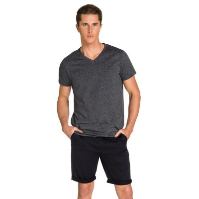 Fashion 4 Men - yd. Vinton Tee Black Marle Xs
