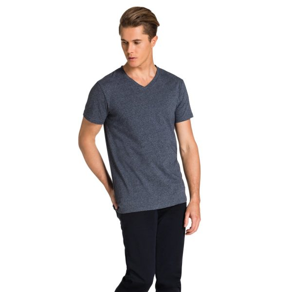 Fashion 4 Men - yd. Vinton Tee Navy Marle 2 Xl