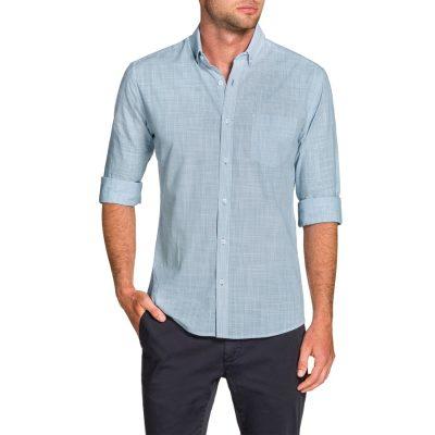 Fashion 4 Men - Tarocash Becker Stripe Shirt Sky L