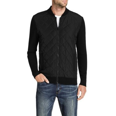 Fashion 4 Men - Tarocash Boston Zip Thru Knit Black L