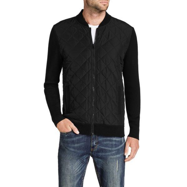 Fashion 4 Men - Tarocash Boston Zip Thru Knit Black L