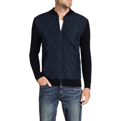 Fashion 4 Men - Tarocash Boston Zip Thru Knit Navy S