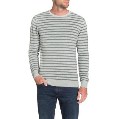 Fashion 4 Men - Tarocash Braydon Stripe Knit Ice S