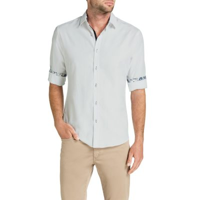 Fashion 4 Men - Tarocash Carnaby Slim Textured Shirt White S