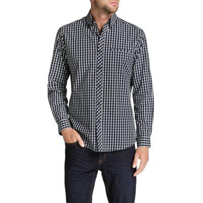 Fashion 4 Men - Tarocash Cedric Check Shirt Navy S