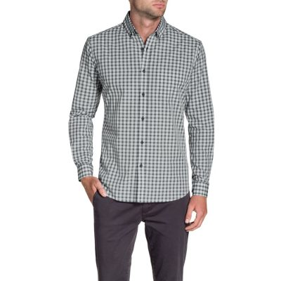 Fashion 4 Men - Tarocash Clyde Check Shirt Grey Xl