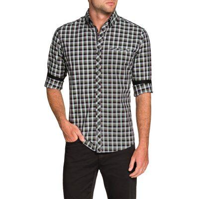 Fashion 4 Men - Tarocash Crane Check Shirt Sage M