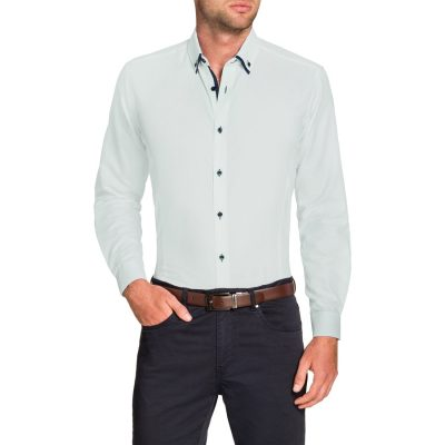 Fashion 4 Men - Tarocash Curtis Textured Shirt White L