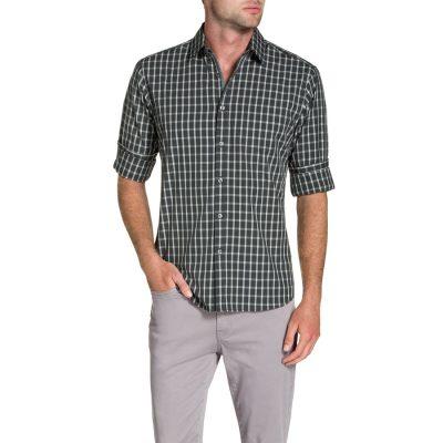 Fashion 4 Men - Tarocash Daniels Check Shirt Grey S