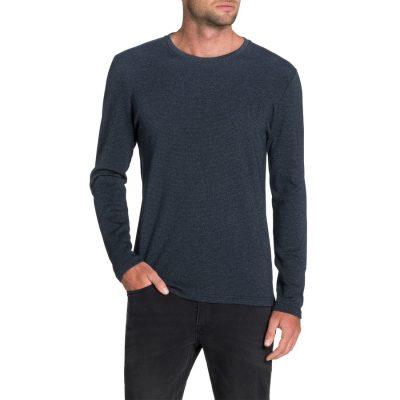 Fashion 4 Men - Tarocash Dominic Crew Stripe Tee Denim 4 Xl