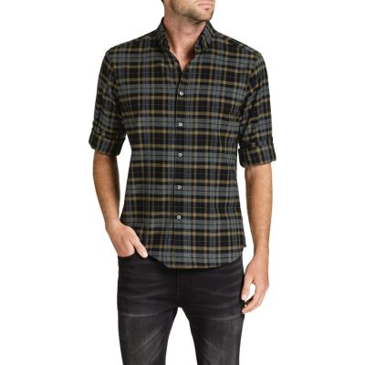 Fashion 4 Men - Tarocash Essential Check Shirt Black Xxxl