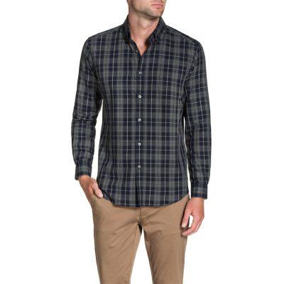 Fashion 4 Men - Tarocash Essential Check Shirt Charcoal Xl