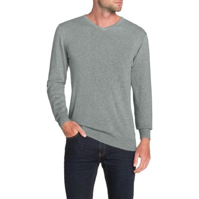 Fashion 4 Men - Tarocash Essential V Neck Knit Grey Marle M