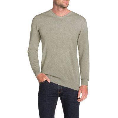 Fashion 4 Men - Tarocash Essential V Neck Knit Mocha S