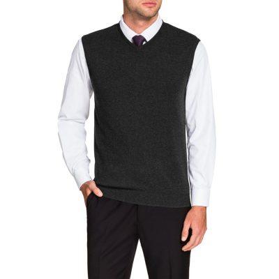 Fashion 4 Men - Tarocash Essential Vest Charcoal M