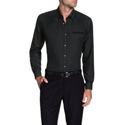 Fashion 4 Men - Tarocash Harris Textured Shirt Black M