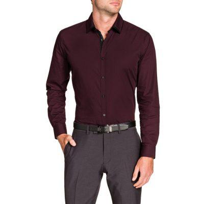 Fashion 4 Men - Tarocash Jasper Dress Shirt Berry Xs