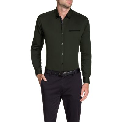 Fashion 4 Men - Tarocash Joe Textured Shirt Khaki S