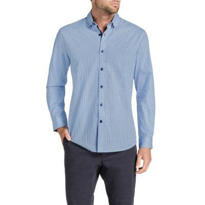 Fashion 4 Men - Tarocash Keating Textured Shirt Sky M
