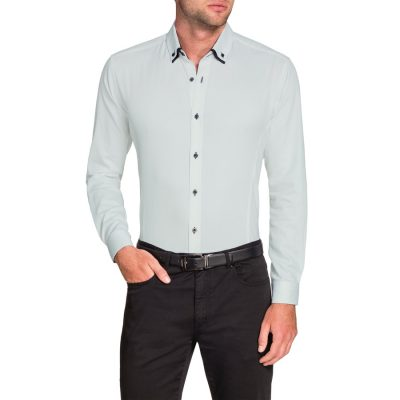 Fashion 4 Men - Tarocash Larry Textured Shirt White Xxxl