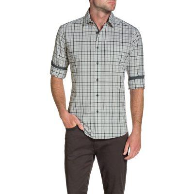 Fashion 4 Men - Tarocash Maywhether Check Shirt Grey 4 Xl