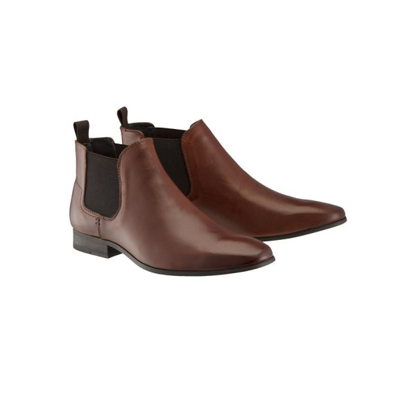 Fashion 4 Men - Tarocash New Acton Gusset Boot Tan 10