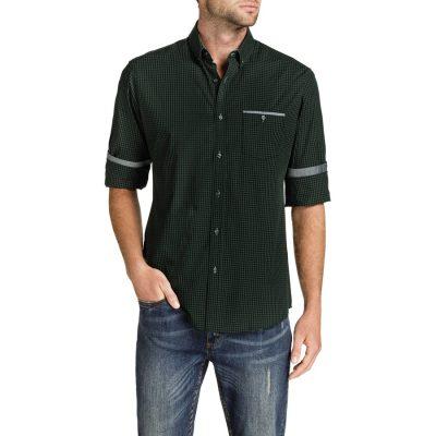 Fashion 4 Men - Tarocash Otto Check Shirt Khaki Xl