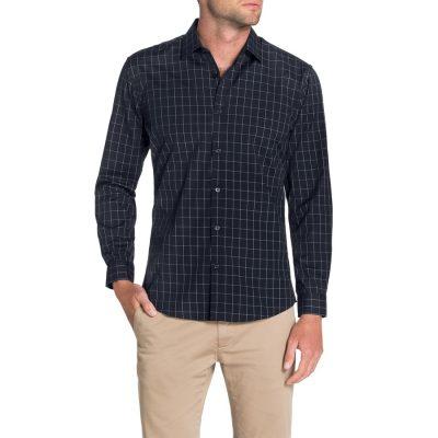Fashion 4 Men - Tarocash Rigg Slim Check Shirt Navy Xxxl