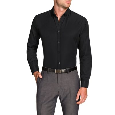 Fashion 4 Men - Tarocash Royale Textured Shirt Black Xs
