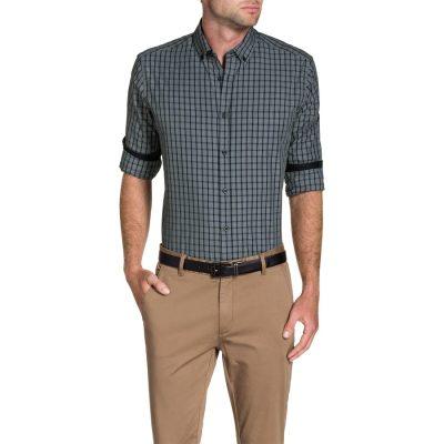 Fashion 4 Men - Tarocash Tommy Check Shirt Grey Xxxl